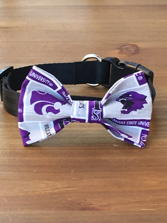KU Univeristy of Kansas Bow Tie Dog Cat Collar Washable