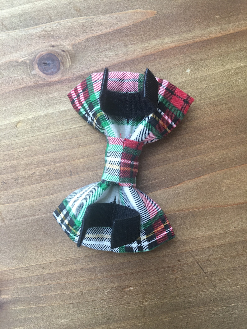 Red and Green Plaid BowTie Bow Tie for Dogs Pet Bow Tie Bow Tie for Pets