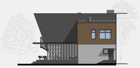 Modern House Plan Building Plans Blueprints Material List 2018 193m 3