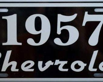 1957 57 CHEVROLET Metal License Plate CHEVY
