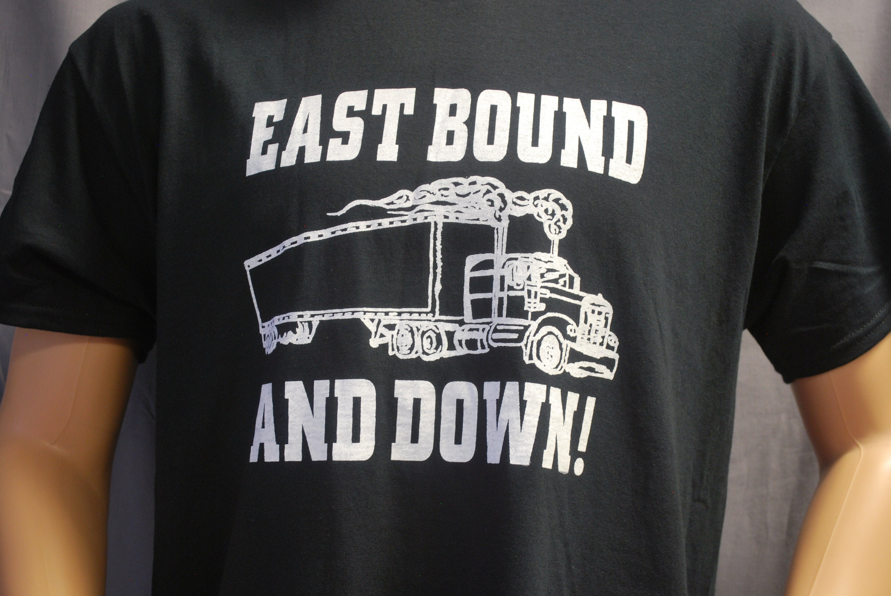 1950s Men's Ties, Bow Ties – Vintage, Skinny, Knit T-Shirt East Bound  Down Adult Mens Tee By Race City Retro Vintage Rockabilly Tractor Trailer Smokey  The Bandit Kenworth Mack Beer Gift $16.95 AT vintagedancer.com