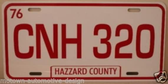 SHERIFF Dukes Of Hazzard Metal Novelty License Plate Tag