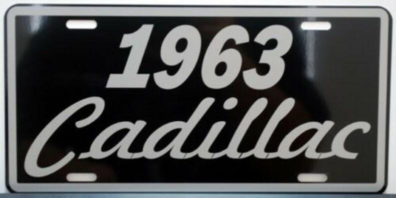 1963 63 CADILLAC Metal License Plate 6x12 Tag Eldorado Coupe DeVille Elvis
