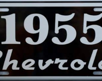 1955 55 CHEVROLET Metal License Plate CHEVY