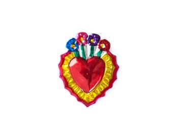 Heart magnet • Flowers B
