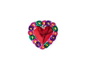 Heart magnet • Flowers A