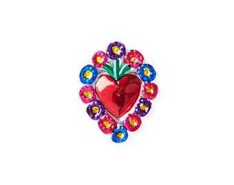 Heart magnet • Flowers C