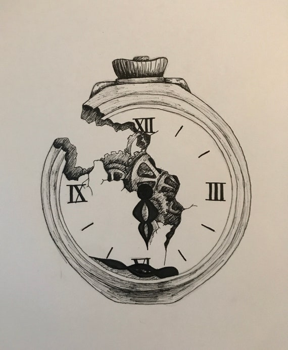 Print Of Broken Pocket Watch Etsy Draw a circular shape protector having the same size with that on the upper part. print of broken pocket watch