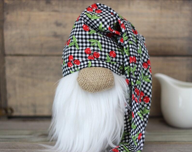 Kitchen Gnome: Cherries and Buffalo Checks image 0