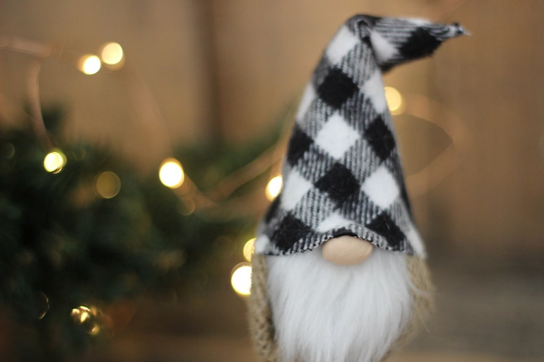 Buffalo Check Gnome Tomte Nisse Inspired image 0