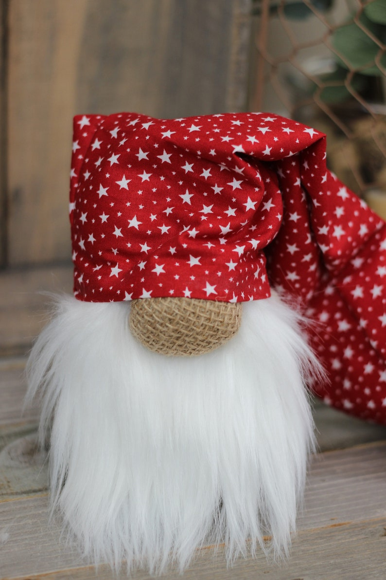 Red Patriotic Gnome  July 4th Decor  Slouchy Hat   Tiered image 0