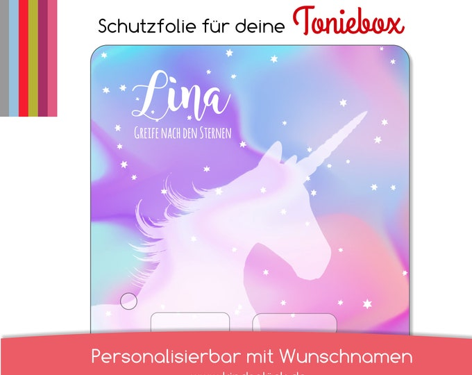Protective film suitable for the toniebox, unicorn