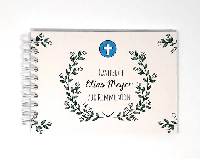 Guestbook for communion, confirmation or confirmation, personalizable by name