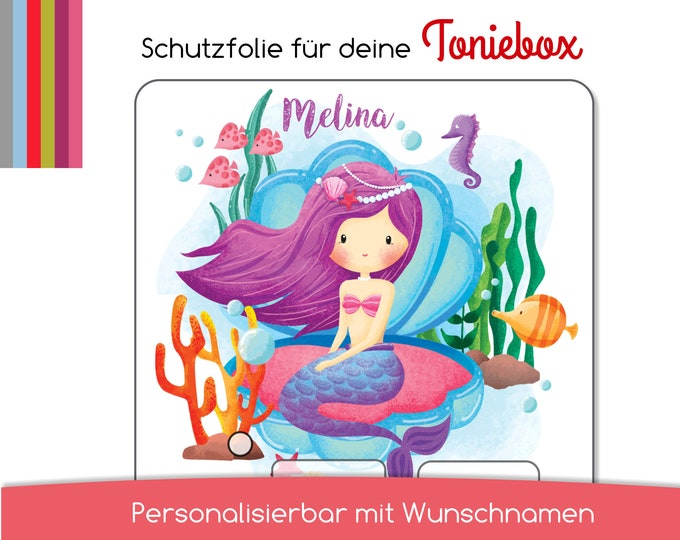Protective film suitable for the toniebox, little mermaid