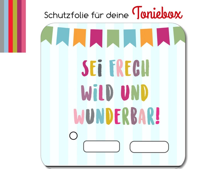 Protective film suitable for the toniebox, cheeky, wild, wonderful