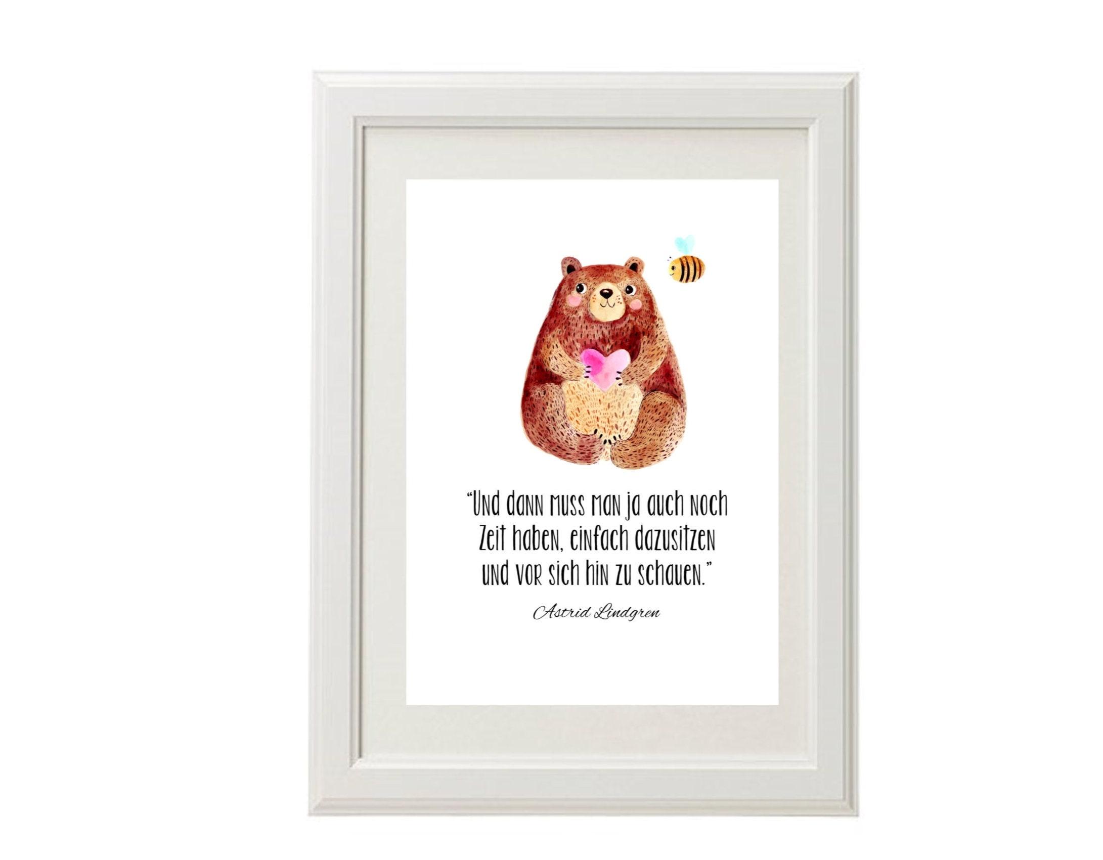 Bild fürs Kinderzimmer Astrid Lindgren | Etsy