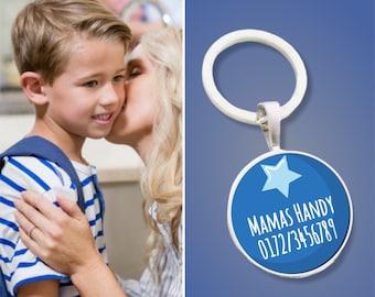 Pendant Emergency Number Star - Emergency Trailer - Gift for schooling or kindergarten admission