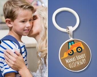 Trailer Emergency Number Excavator - Emergency Trailer - Gift for schooling or kindergarten entrance