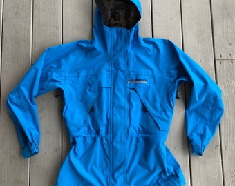 3868d5bc83 LL Bean All Conditions Gortex women's hooded full zip jacket--aqua  blue--size Medium