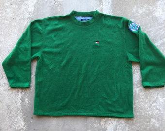 3fdccbd59ac8b8 Vintage 1990s Tommy Hilfiger-Tommy Jeans-Fleece-Green-Size XL