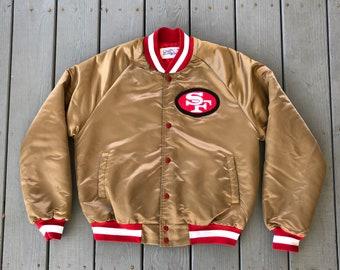 best service 3f4f6 cec7c 49ers reversible bomber jacket