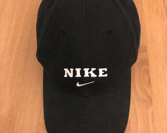 6a5ed14f3f10d ... discount code for vintage 90s nike black hat lo profile dad hat  strapback 183c1 c27f3