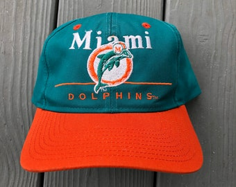 Vintage 90s Miami Dolphins embroidered snapback hat--one size fits all  (adult) d57c8d25e