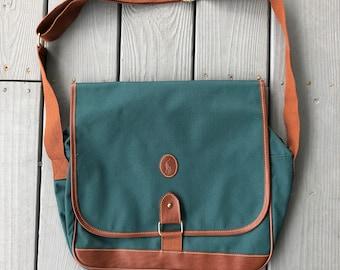7461c77f9dbe Vintage 1990s Polo Ralph Lauren canvas messenger travel bag