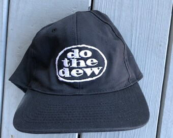 4fcff6bf5cc Vintage 90 Mountain Dew Do The Dew black snapback hat