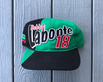 best website d0cf1 6d8c4 Vintage 90s Bobby Labonte multi-color NASCAR snapback hat