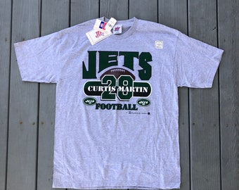 93be57480 Curtis Martin double-sided jersey t-shirt w  original tags--gray--size XL