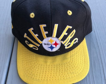 8e9ce8ae6f694a Vintage 90s Pittsburgh Steelers NFL fitted hat--black and yellow--size 7 1/8