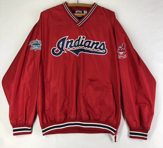 Original Vintage 1990s Cleveland Indians Script Pu