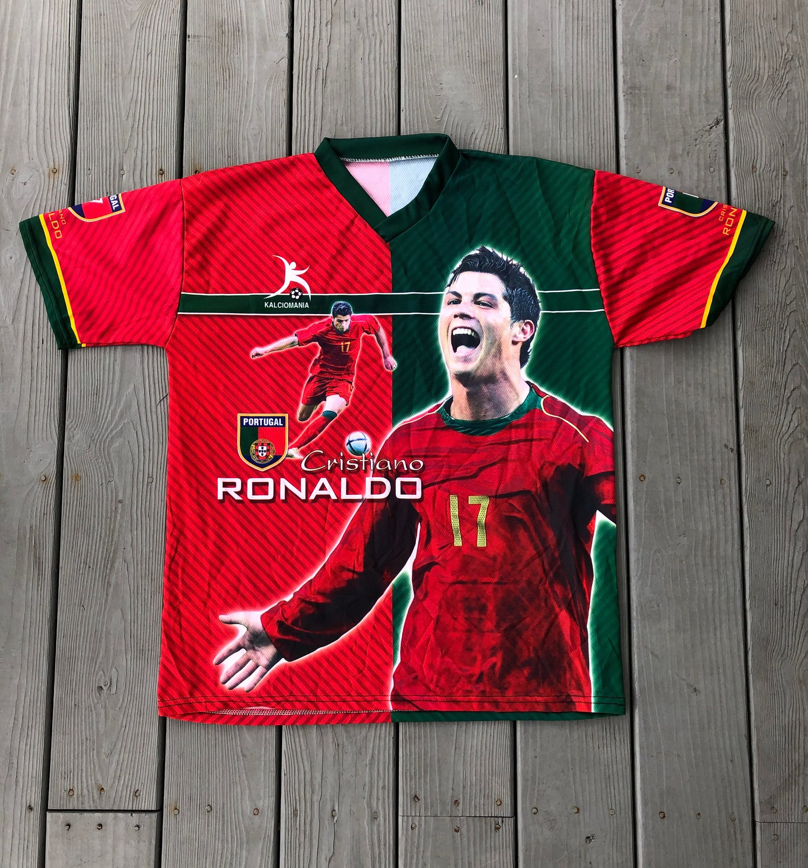 new style 0b0f9 ecf4d Cristiano Ronaldo Portugal all-over double sided bootleg jersey  t-shirt--size Medium
