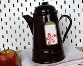 Coffee pot vintage quot Enamel quot