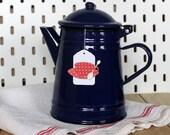 Coffee pot Blue Enamel