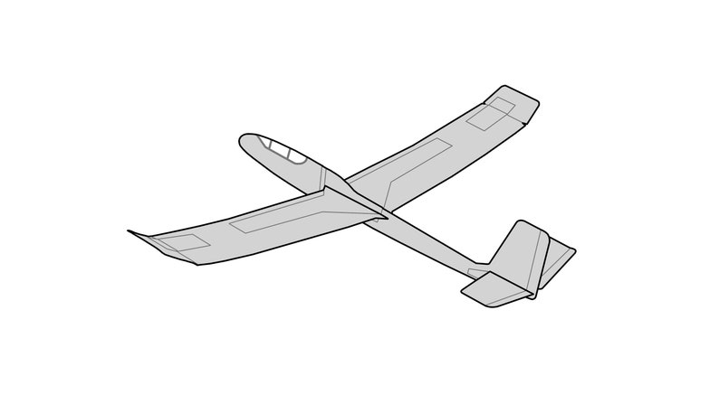 Card Stock Airplane Plans — Standard Glider