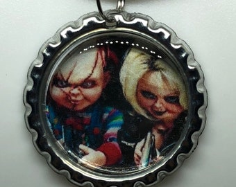 c95ec13d5 Bride of Chucky Tiffany Tiff Horror Movie Lover Life Pendant Ball Chain  Necklace Horror Jewelry Fashion Halloween Gift