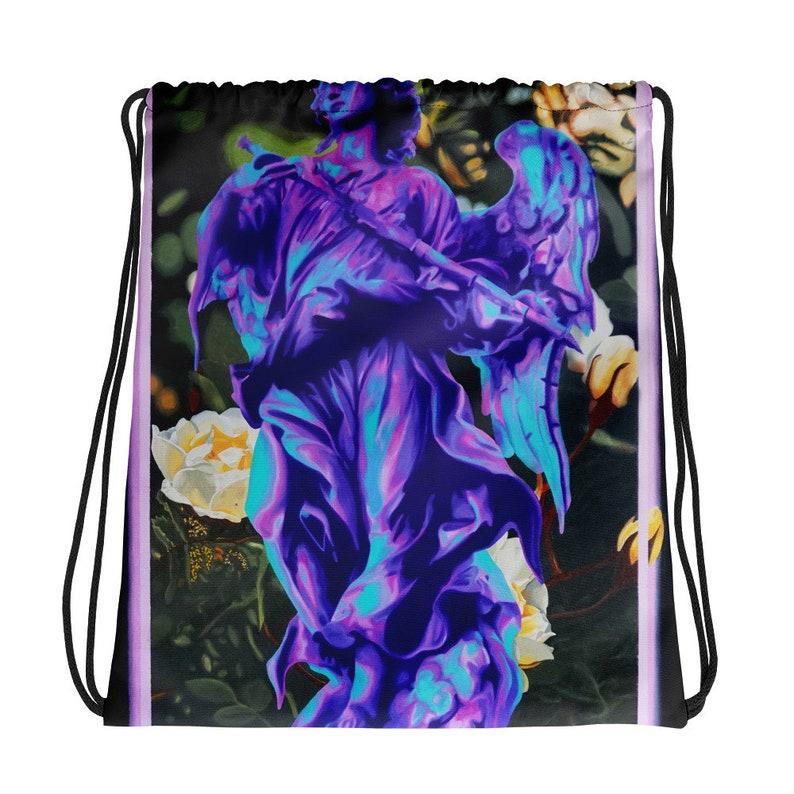 Drawstring bag Statue Vaporwave Neon Painting