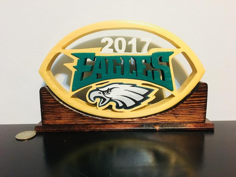 Philadelphia Eagles Custom Wooden Football Logo
