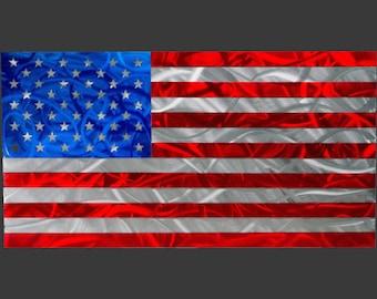 305b2318f0f5 Large Metal American Flag