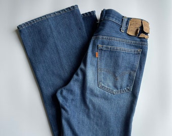 Levi's jeans high waist wide leg flare size 32/33 orange tag