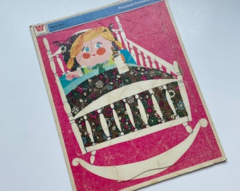 Vintage children's tray cardboard puzzle Whitman Baby Doll, 1969