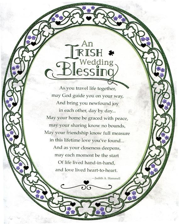 Irish Wedding Blessing - Catholic picture - print