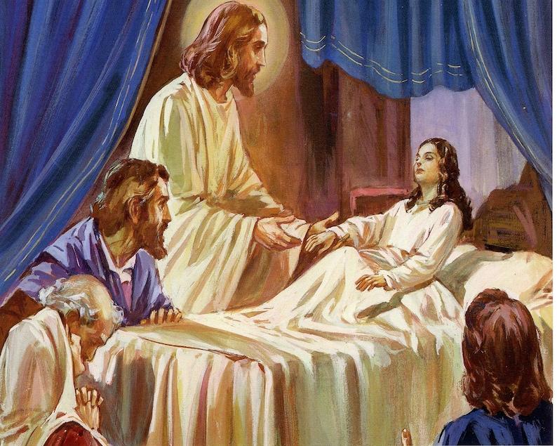 Jesus Heals Man P  Catholic picture  print image 0