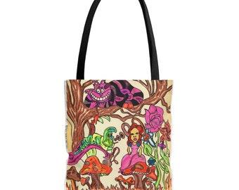 spring gift Disney Purse Alice In Wonderland Tote Bag gift for her Tote Bag Shopping Bag