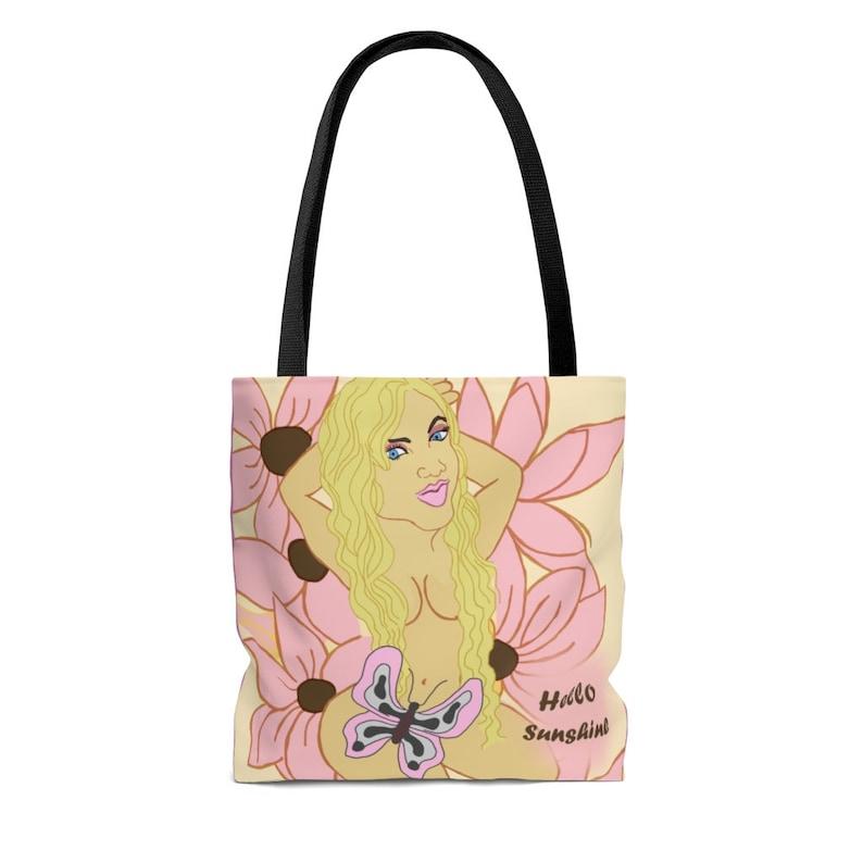 Shopping Bag Book Bag Hello Sunshine Tote Bag- Travel Gift Vacation bag