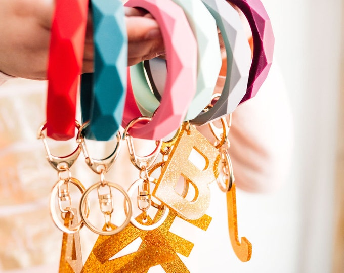 Girls Silicone Bangle Keychain