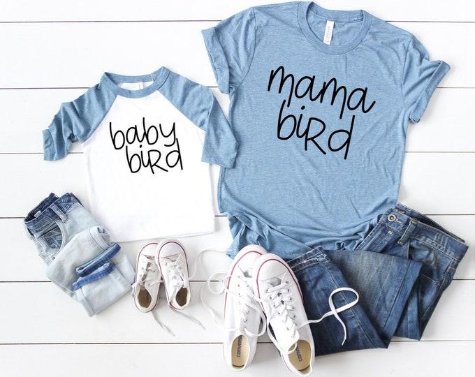 Mama Bird, Baby Bird / Mommy and Me / Family Set / KU / Baby Jay