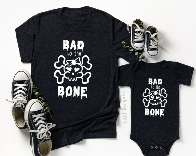 Bad to the Bone / Mommy and Me Halloween Set